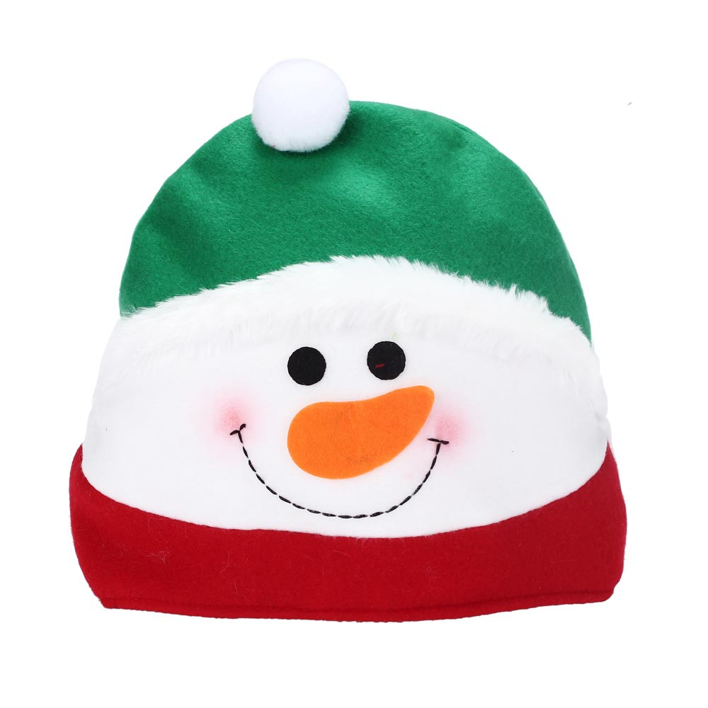 2017 New Design Childrens Christmas Santa Headgear Cute Print Cozy Soft Warm Kids Xmas Caps Gifts Holiday Party Costumes Hats