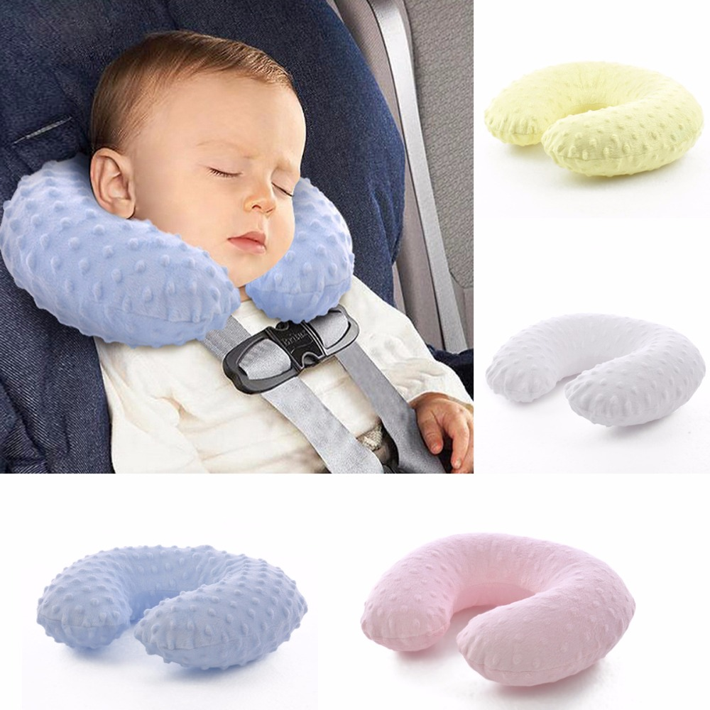 Removable Washable Baby Travel Inflatable Pillow Children Cartoon Neck