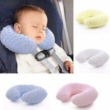 Removível E Lavável Bebê Crianças Dos Desenhos Animados Pescoço Travesseiro U Travesseiro de Viagem Travesseiro Inflável Travesseiro de Pescoço Almofada de Descanso para As Crianças