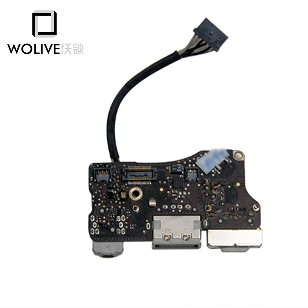 Genuine USB DC Power jack 820-3057-A For MacBook Air 13.3 A1369 MagSafe DC I/O Power Board Port Audio Jack 820-3057-A 2011 for macbook air usb i o audio board 820 3213 a 11 laptop a1465 power dc jack md223 md224 2012