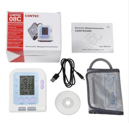 CE FDA CONTEC08C tensiomètre numérique avec capteur SPO2 NIBP PR livraison gratuite