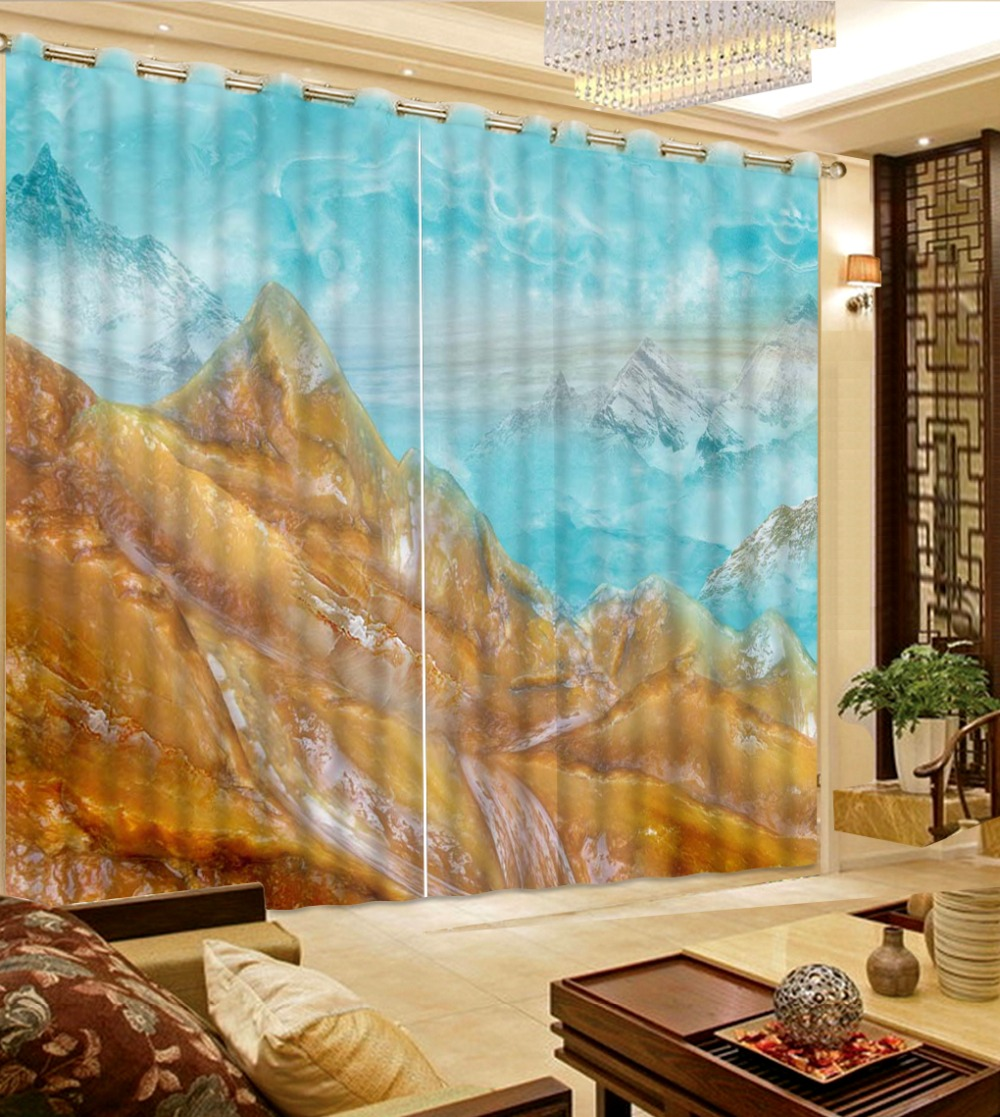 marble stone curtains 3d Curtains Blackout for Living Room Kids Bedroom Fabric curtain