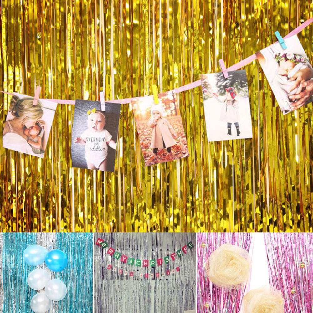 1Pc Multicolor Rain Curtains Scene Props Photo background Wedding ...