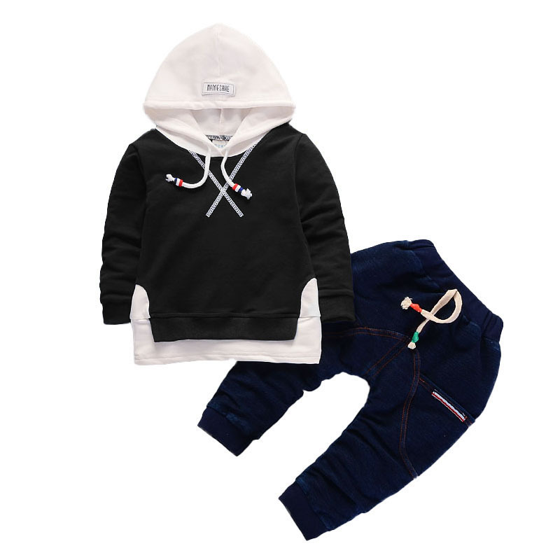 tcYct Tracksuit For Boys Hooded Coat 2pcs Clothes Set Children Kids Hooded + Pants Clothing Sets Tracksuit Sports Suit kids tracksuit boys clothing 4 13t children s sports suits hooded children clothing suit for boys teenage girls clothing fashion