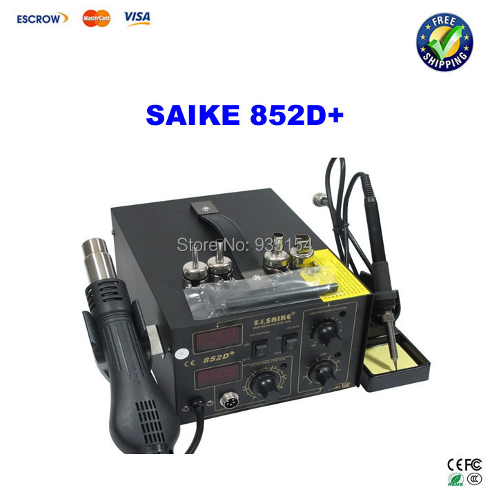 Hot air soldering station SAIKE 852D+ Hot air gun and soldering iron 2 in 1