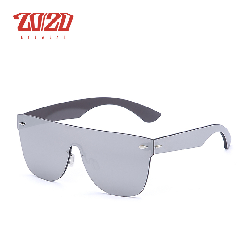 Image 5 - 20/20 Brand New Sunglasses Men Travel Driving Mirror Flat Lens Rimless Women Sun Glasses Eyewear Oculos Gafas-in Men's Sunglasses from Apparel Accessories