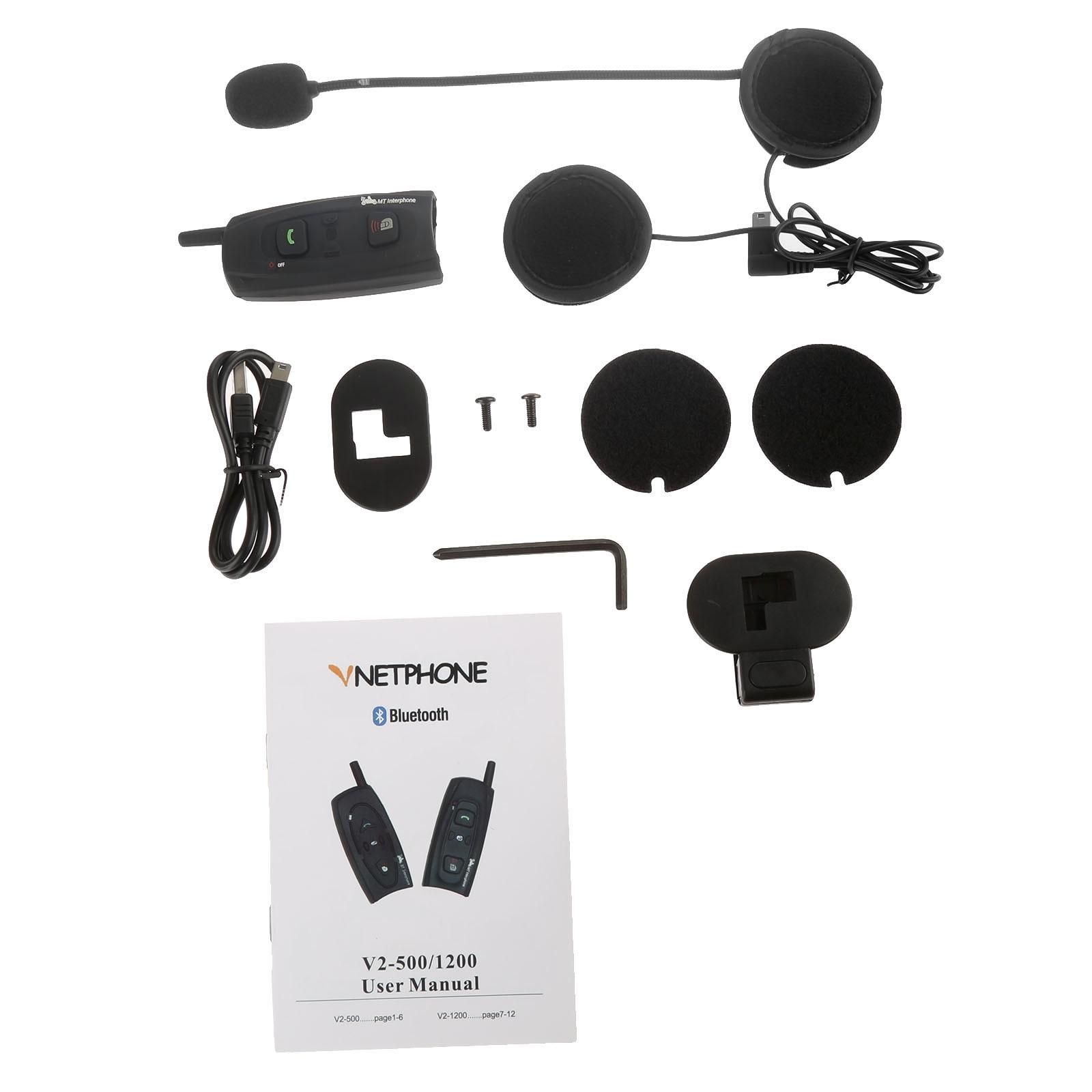 bt interphone wireless bluetooth motorcycle intercom helmet headset v2 1200 full duplex 1000. Black Bedroom Furniture Sets. Home Design Ideas