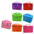 New Zipper Cosmetic Storage Make up Bag Handle Train Case Purse-S