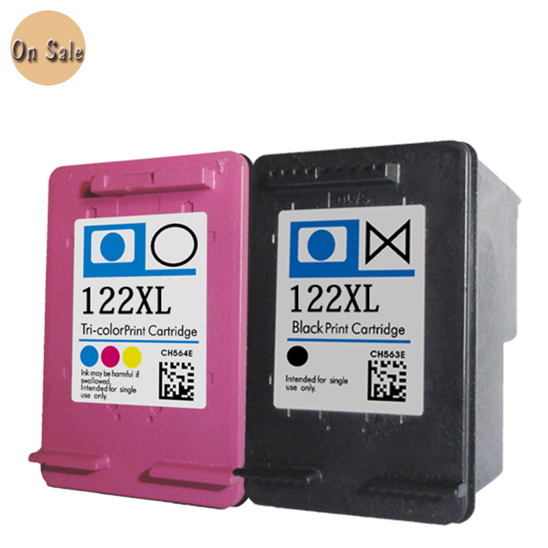 2PK For hp122 122XL Ink Cartridge for hp 122 122XL Ink for HP Deskjet 1000 1050A 2000 2050 2050A 3000 3050 3050A 1510 Printer relogio feminino 2016 new relojes cartoon children watch princess elsa anna watches fashion kids cute leather quartz watch girl