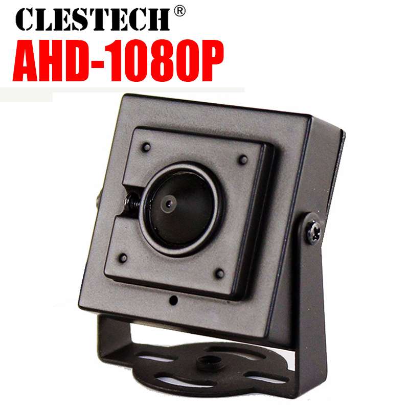 Very Mini AHD camera Sony  IMX-323 1080P 720P 2MP metal 3.7mm Cone Lens super small surveillance products Cam have bracket