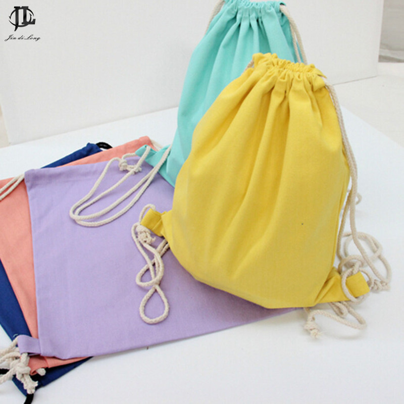 Canvas Drawstring Backpack Kanvas Drawstring Backpack Super Penyulitan Tebal Canvas Pocket Softback Shoulders Draw String