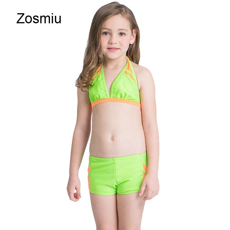 52f070bc12 Zosmiu Girls Bikini Sets 2017 Korean Kids Summer Beach Swimwear Baby Girl  Colors Patchwork Swimsuit Child Bathing Swimming Suits