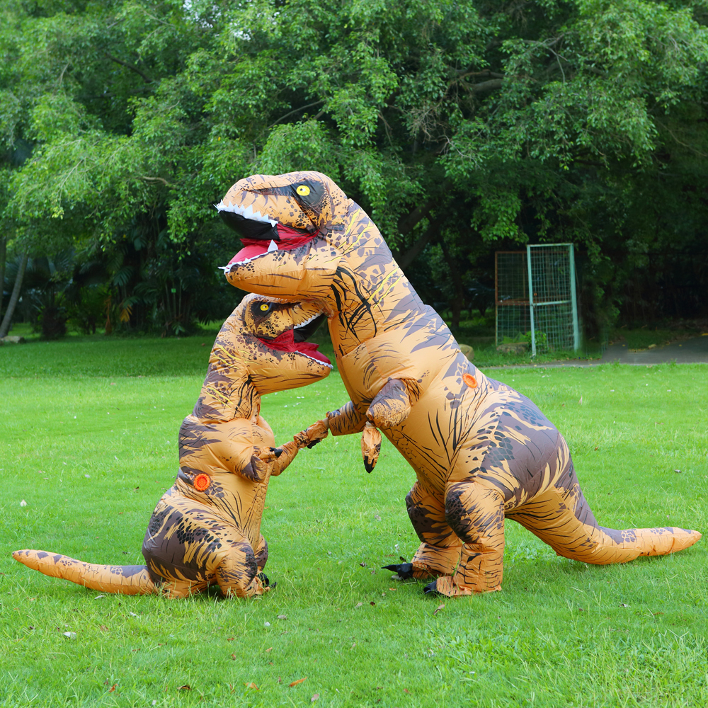 Inflatable Dinosaur Costume T REX Costume Jurassic World Park Blowup Dinosaur Halloween Cosplay Costumes For Adult