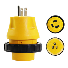 15A Male To 30A Female Twist Adapter RV Locking Power Cord Camper Generator Cable Electrical Converter 125V Plug
