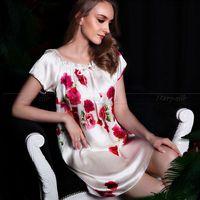 משי 100% נשים Nightskirt PJS הלבשת Sleepshirts כתנות לילה הלבשה תחתונה כתונת לילה Loungewear Sml XL