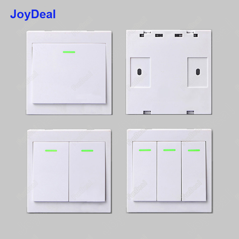 433 Mhz Wireless Rf 86 Wall Panel Transmitter And Ac 110v 220v 1 Channel Remote Control Switch Receiver Hall Bedroom Wall Lights Lights & Lighting