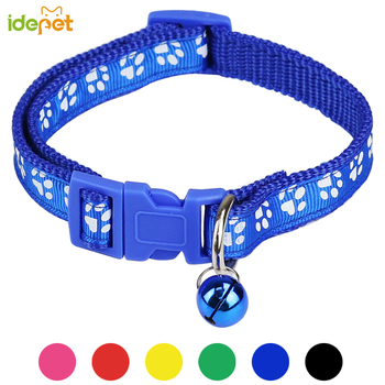 1PC Pet Dog Collar Puppy Cat Pet Buckle Dogs Leads Adjustable Neck Strap With Bell for Animal Pet Accessories For Small Dogs 35 1