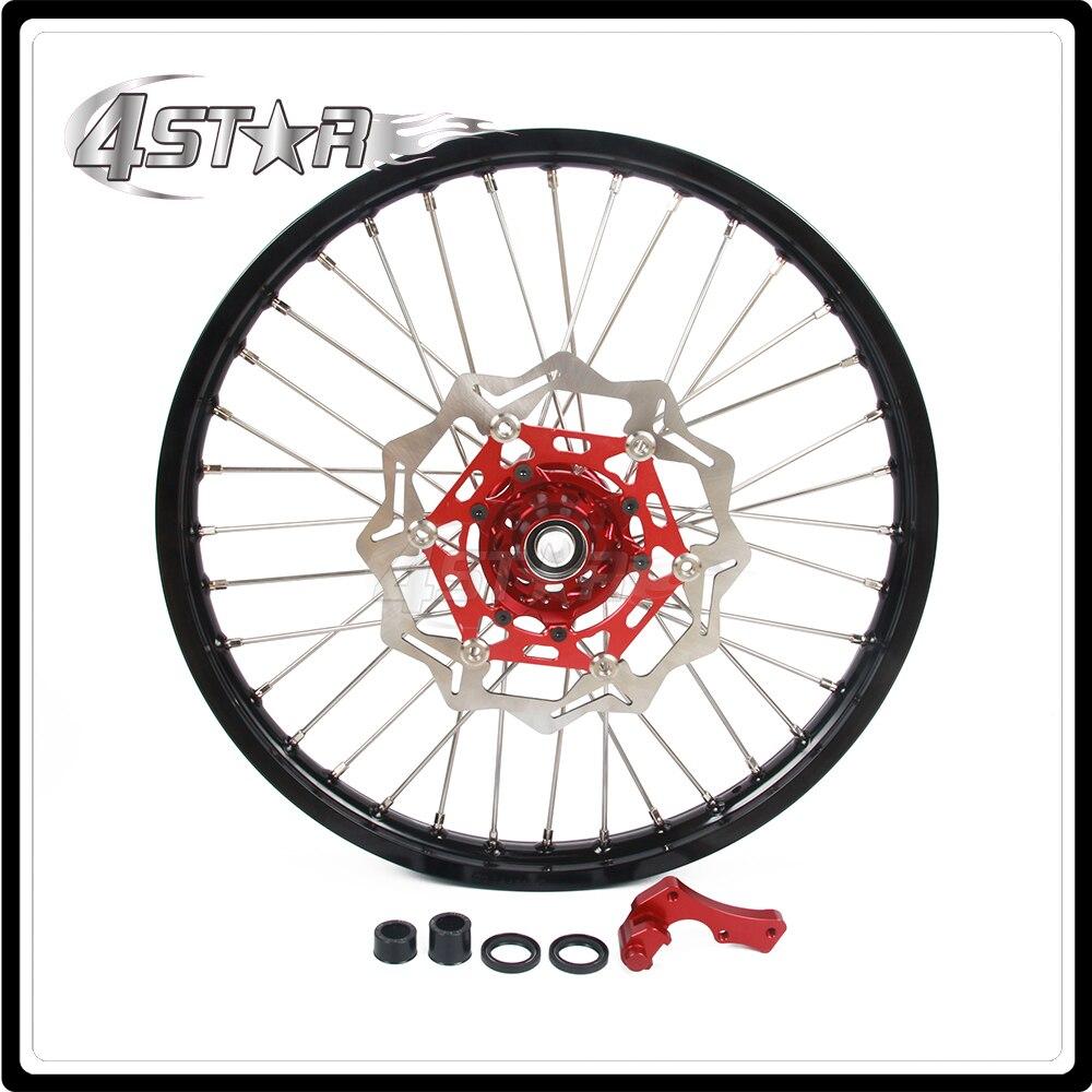 Мотоцикл передний обод колеса ступицы комплект 1.6*21 для Honda CR125R CR250R CR и 125Р ЦР 250р CPF250R CRF450R CRF250X CRF450X