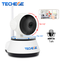 Techege 1080P HD IP Camera Wireless Wifi Wired 2MP Video Surveillance Night Vision Home Security Camera
