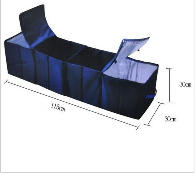 Fresco Isolamento Térmico Dobrável Do Assento de Carro de Volta Sacos de Comida Recipiente De Viagens Caixa De Armazenamento De 4 Quartos Auto Estiva Tidying Frete Grátis