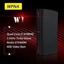 WPNA неттоп W1 Intel Quad Core I7 6700HQ GTX960M 4 ГБ видео оперативной памяти 8 ГБ 256 ГБ SSD WI-FI Mini PC игровой мини пк Windows10 мини компьютер