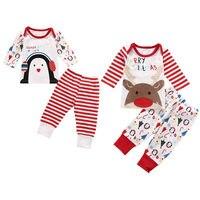 XMAS Deer Toddler Infant Baby Boys Girls Pajamas Set Pyjamas Sleepwear Clothes Kids Baby Christmas Clothing