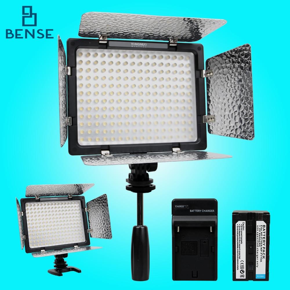 ФОТО Yongnuo YN160 III 5500K LED Video Light+F750 battery kit for camera DV canon nikon