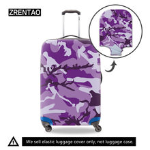 Camouflage S/M/L Suitcase Protective Trunk Covers Apply 18~32 Inch Elastic Travel Luggage Cover Stretch Trolley case Dust cover(China)