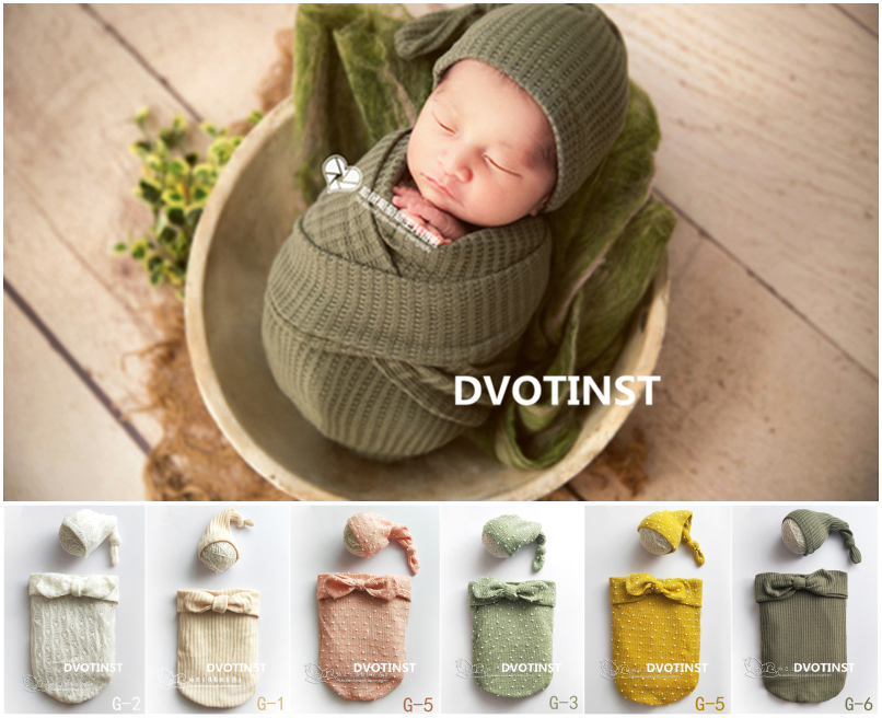 Knitted Sleeping Bag Newborn Props For Photography Wrapping Customes for Studio