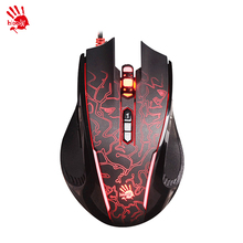 A4tech/ bloody P87 wired game mouse  professional gaming game notebook computer mouse LOLcf macro programming P87 USB Backlight