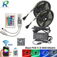 10m WiFi Full Set RGB LED Strip DC 12V LED Strips Light Tape Flexible Lighting 5050 SMD With Controller adapter For TV Backlight