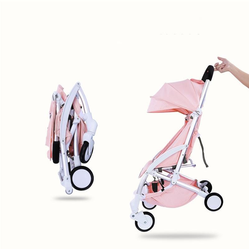 все цены на Free shipping Lightweight baby Stroller 2 in 1 aluminum alloy can be on the plane folding stroller онлайн