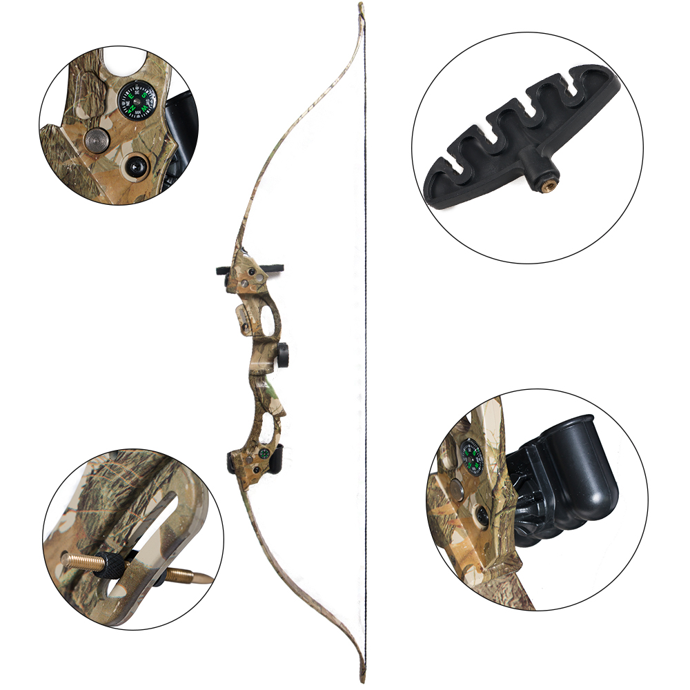 20LBS Archery Bows and Arrows Camouflage Target Shooting Hunting Practice Bow Accessories Set with Arm Guards