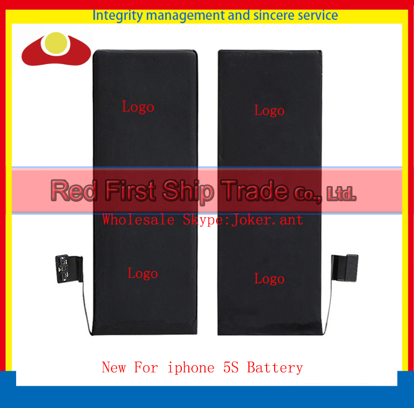 10Pcs/lot High Quality New Li-ion Battery For iphone 5S Battery 1560mAh with Tracking Number