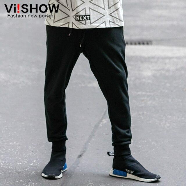 VIISHOW Fashion New cotton men casual pants personality drop crotch pants men street pant Men Trousers Slim Fit Brand Clothes
