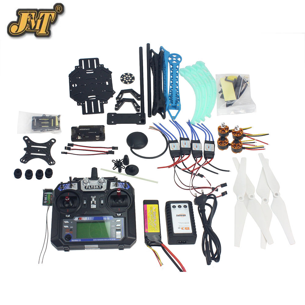 JMT Full Set RC Drone Quadrocopter 4-axis Aircraft Kit 500mm Multi-Rotor Air Frame 6M GPS APM2.8 Flight Control Camera GimbalJMT Full Set RC Drone Quadrocopter 4-axis Aircraft Kit 500mm Multi-Rotor Air Frame 6M GPS APM2.8 Flight Control Camera Gimbal