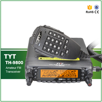 Newest Version TYT TH 9800 Quad Band Police Ham Amateur CB VHF UHF Car Radio Transceiver with Programming Cable
