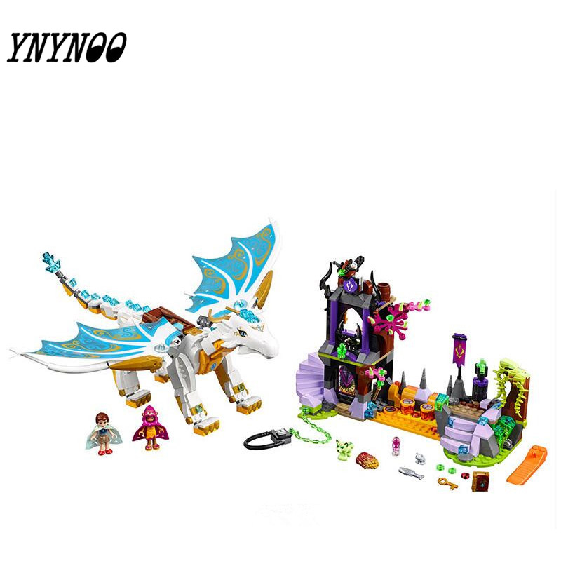 (YNYNOO) Elves 10550 White Dragon The Elf Series Of Long After The Rescue Cction Blocks With 41179 Girls Assembled Block Toys lepin 30017 505pcs elves series the aira