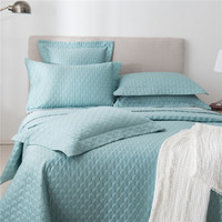 bedding set 1/3/5 Piece Quilted Quilt Coverlet & Bed Cover Set Stitched Pattern Solid Color 100% Cotton Filling Bedspread