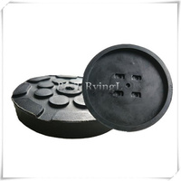YY 4pcs/ Rubber Jacking Pad Anti slip Protector Floor for Heavy Duty Round Lift Pads for Car Repair
