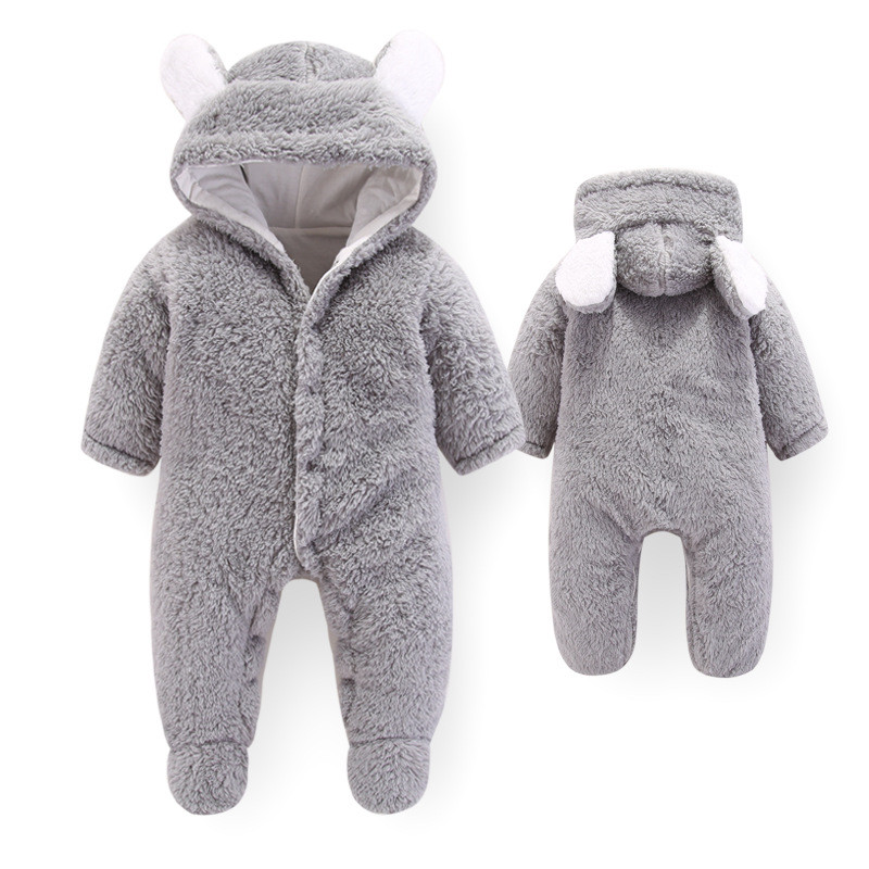Lawadka Baby 0-3 Months Girls Baby Footies Velvet Newborns Baby Boys Clothes Autumn Winter Baby Clothing Suits For 3M 6M 9M 12M