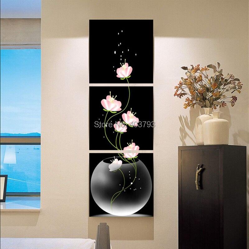 3 шт. черно красная картина с принтом современная абстрактная картина маслом на холсте для гостиной Настенная картина
