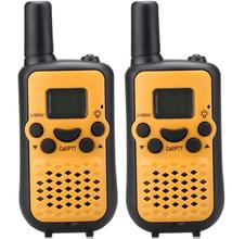 New Yellow TS899 22CH portable radio walkie talkie pair FRS GMRS twin talkabout handy two way radios transceiver w/ Flashlight