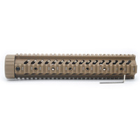 TriRock 12'' inch Tactical Hunting .223/5.56 / M4/AR 15 Quad Rail Handguard Free Float Mount System_Tan Color Printed