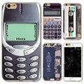 Novo para iphone 5 5s se tampa do caso tpu macio silício Reminiscência Clássico Calculadora fita Magnética 3310 do telefone Da Bateria Da Câmera saco