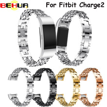 Cowboy Chains Watchband Stainless Steel Bracelet Band For Fitbit Charge 2 Watch Band Wristband Metal Smart Watch Band Strap hot sale fabulous genuine stainless steel bracelet smart watch band strap for fitbit charge 2 drop shipping wholesale