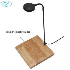 5 Вт USB гусиная шея светодиодный светильник для растений, пейзаж, черный, серебристый светодиодный светильник для аквариума, 6000 К водная раст...