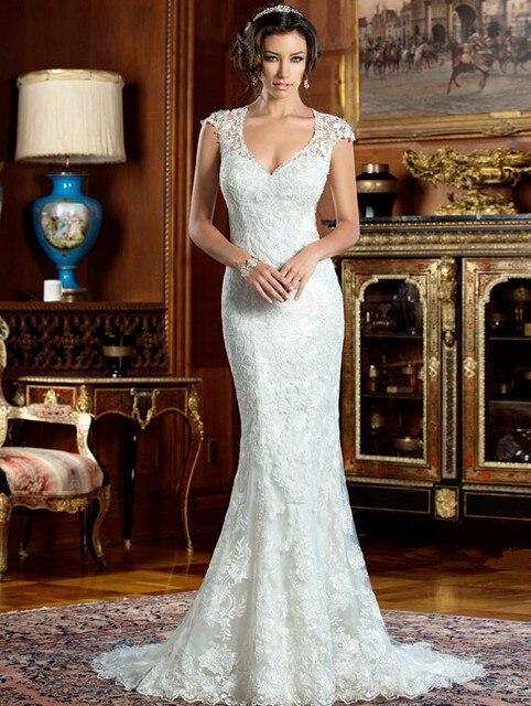 Vintage Kurzen Ärmeln Meerjungfrau Stil Brautkleider China online ...