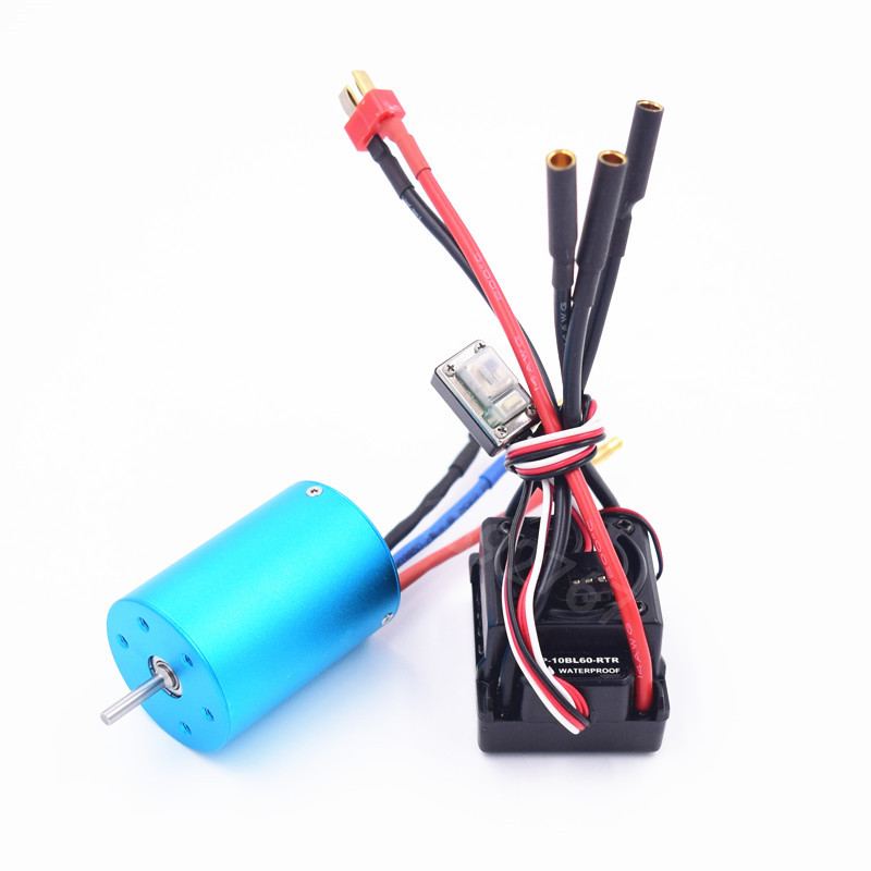 WaterProof 60A ESC WP-10BL60-RTR 3650 BRUSHLESS 540Motor 3300KV For 1/10 Scale Model RC Car Remote Control Car HSP HPI 2-3S Lipo hpi e firestorm 10t 2wd rtr 1 10 2 4g hpi 105866