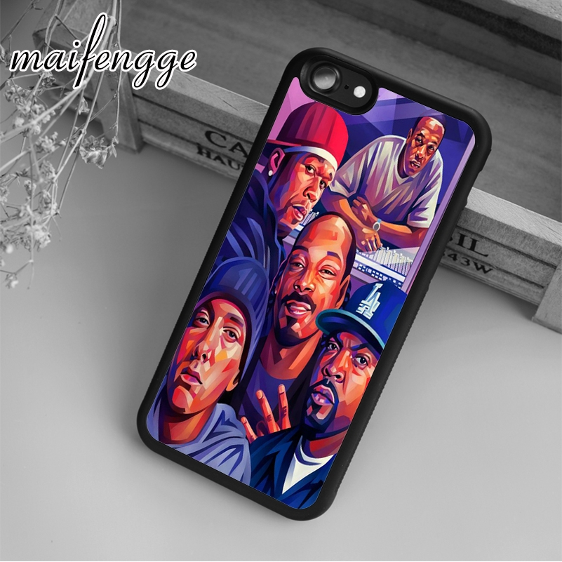 Maifengge Hip Hop Art Eminem Snoop Ice Dre Case For IPhone ...